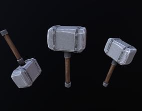 Hammer Stylized 3D asset