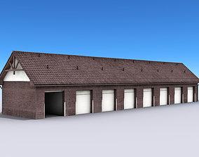 Big Garage Warehouse 3D asset