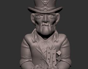 people 3D printable model Lemmy is Motorhead