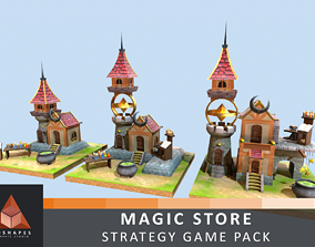 Magic Store - Strategy Game Pack 3D model