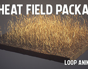 Wheat Field Package Loop Animated 3D model