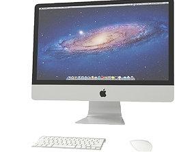 Apple iMac 3D model desktop