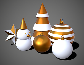 3D New Year Decoration Christmas Props