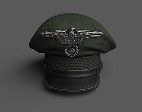 Hat german officer military combat helmet 3D model