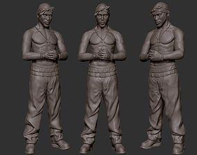 print Tupac Shakur 3d sculpture