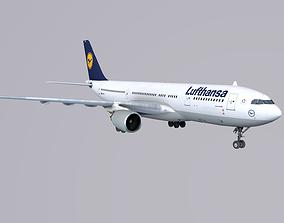 3D model Airbus A 330-200 Lufthansa