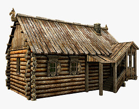 Wooden Village House 3D model