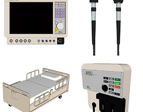 3D Hospital Room - Medical Equipment