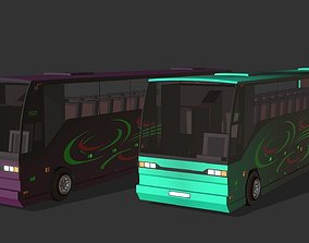 City Bus 3D model animated