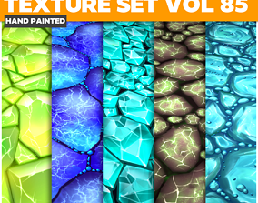 Crystals Vol 85 - Game PBR Textures 3D asset