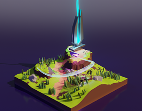3D model Halo Infinite Lowpoly Scene