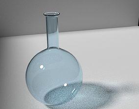 3D Glass scientific flask