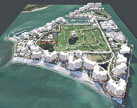 Fisher Island Florida USA 3D