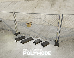 3D asset Low poly Fence 01 PBR Game-ready