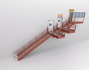 Factory Metal Stairs modular package 3D