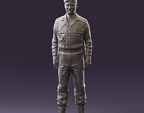 Man in russian military uniform 0896 3D Print