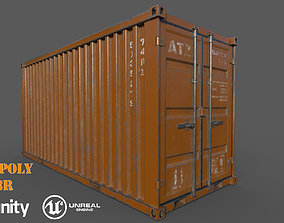 Old Oranges Shipping Container Low-Poly Game game-ready 2