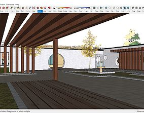 Sketchup Recreational and tourism complex C3 3D model