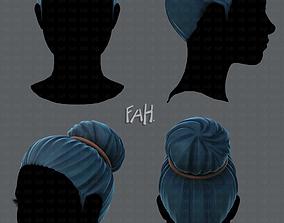 3D Hair style for woman V01 VR / AR ready