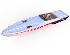 Black Thunder Boat 3D
