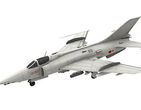 3D model Lowpoly Nanchang Q-5 Aircraft