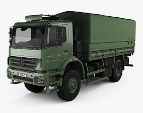 3D model Mercedes-Benz Axor 1828A Military Truck 2005