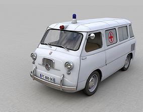 3D FIAT 600 MULTIPLA AMBULANZA 1956
