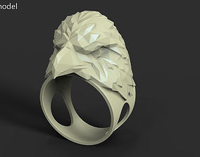3D printable model organic Eagle vol3 polygonal ring