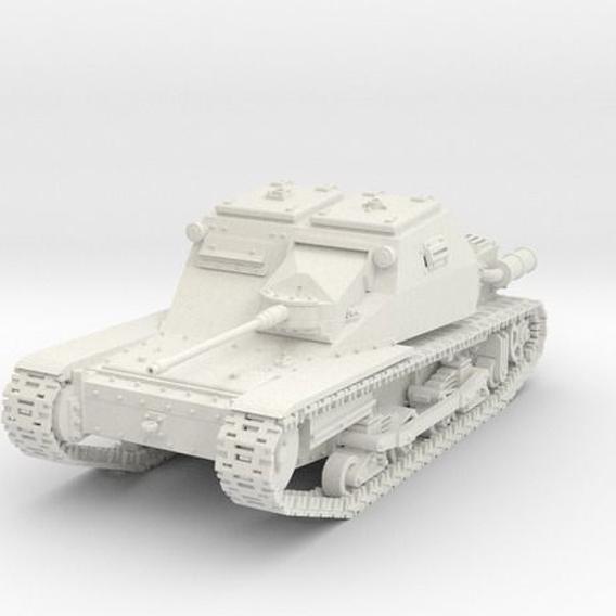 WWII light tank Italian CV L3  solothurn 1-72 scale