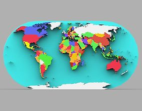 World Map in 3ds and obj format