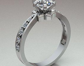 3D printable model diamond-ring solitary ring women