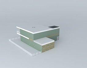 Modern House 3D model mid-century