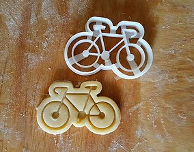 Bike cookie cutter 3D print model