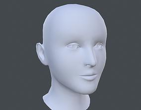 Female Head 3D asset realtime