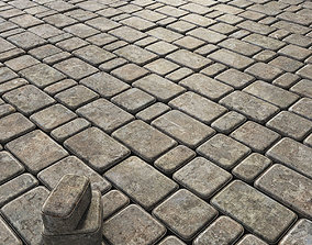 Paving stone gray 3D
