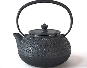 3D Traditional cast iron Japanese teapot household