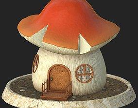 3D model Cartoon mushroom house 5