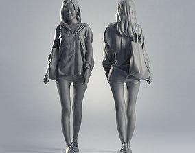 Woman Jess Casual Walking 001 3D model