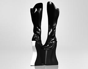 3D asset Super High Heel Knee Boots