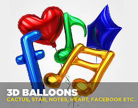 3D Balloons in different shapes