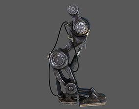 sci fi robot leg 3D model