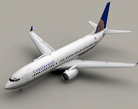 Boeing 737-800 Continental Airlines 3D