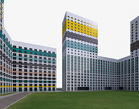 3D model Residential Complex Buildings