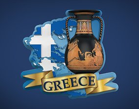Greek Souvenir Fridge Magnet 3D printable model