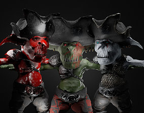 3D asset Goblin Pirate Crew Collectio Pack The Captain
