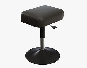3D PBR Piano stool adjustable 01