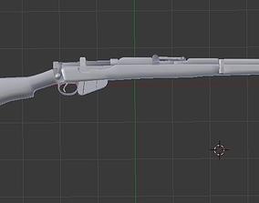 3D asset Lee-Enfield SMLE No1 Mk3 303 with Bayonet blend 2