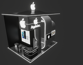 3D Exhibition Booth Apple