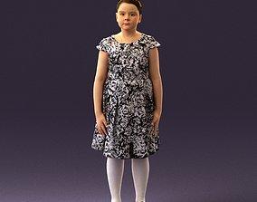 3D model 000993 girl in zebra style dress