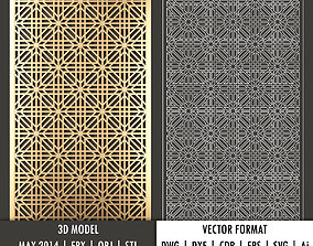 Arabic decorative panel 2 3d model and vector format